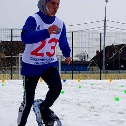 «Особенные» атлеты островного региона состязались в беге на снегоступах