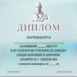 27 декабря в Южно-Сахалинске состоится открытый турнир по дзюдо памяти Василия Ощепкова