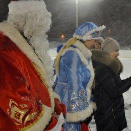 В перетягивании каната команда Деда Мороза победила команду Снегурочки