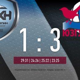 «Сахалин» проиграл первый матч