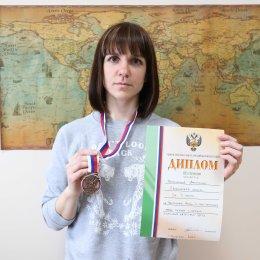 Анастасия Плотникова заняла третье место на этапе Кубка мира по мас-рестлингу