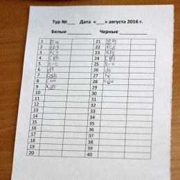 Участники первенства области по шахматам сыграли партии первого тура