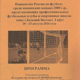 Первенство Дальнего Востока среди юношей 2000 г.р. (Белогорск)